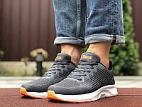 Серые мужские кроссовки демисезонные подошва пена спортивные