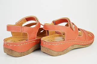 Босоножки кирпичные кожаные Aspena 125 36-40 размер, фото 3
