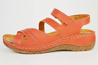 Босоножки кирпичные кожаные Aspena 125 36-40 размер, фото 2