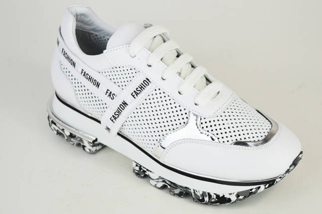 Кроссовки летние перфорированные Evromoda 4418 Белые 40,41,42 размеры, фото 2