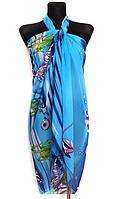 Легкое парео Fashion Аманда рыбки 155*95 см голубой 513
