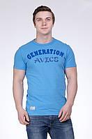Футболка чоловіча блакитна Avecs AV-30011 Розміри S M L XXL, фото 1