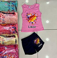 """Костюм """"likee"""" с шортами для девочки 5-8 лет"""