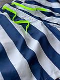 Мужские пляжные шорты M384 бело-синие, фото 4