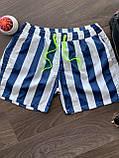 Мужские пляжные шорты M384 бело-синие, фото 2