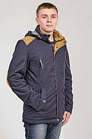 Парка куртка мужская синяя Avecs AV-70095 Размеры 46 52 54