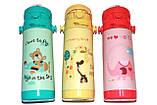 Детский термос из Пищевой Нержавеющей Стали Love 350 мл. Герметичный, Оснащен трубкой, фото 7