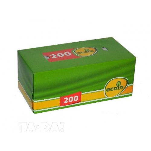 Салфетки косметические Ecolo 2 слоя 200 шт