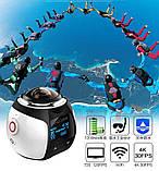 Экшн-Камера 360 Градусов (Панорамная Съёмка) PanoView WI-FI, фото 2
