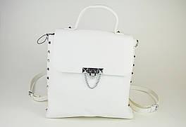 Рюкзак кожаный Polina&Eiterou 0228 Белый
