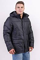 Куртка чоловіча зимова чорна Avecs AV-912С Розміри 46/M 48/L