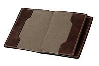 Обложка для документов, паспорта, автодокументов с отделом для карт, коричневый (матовая), фото 1