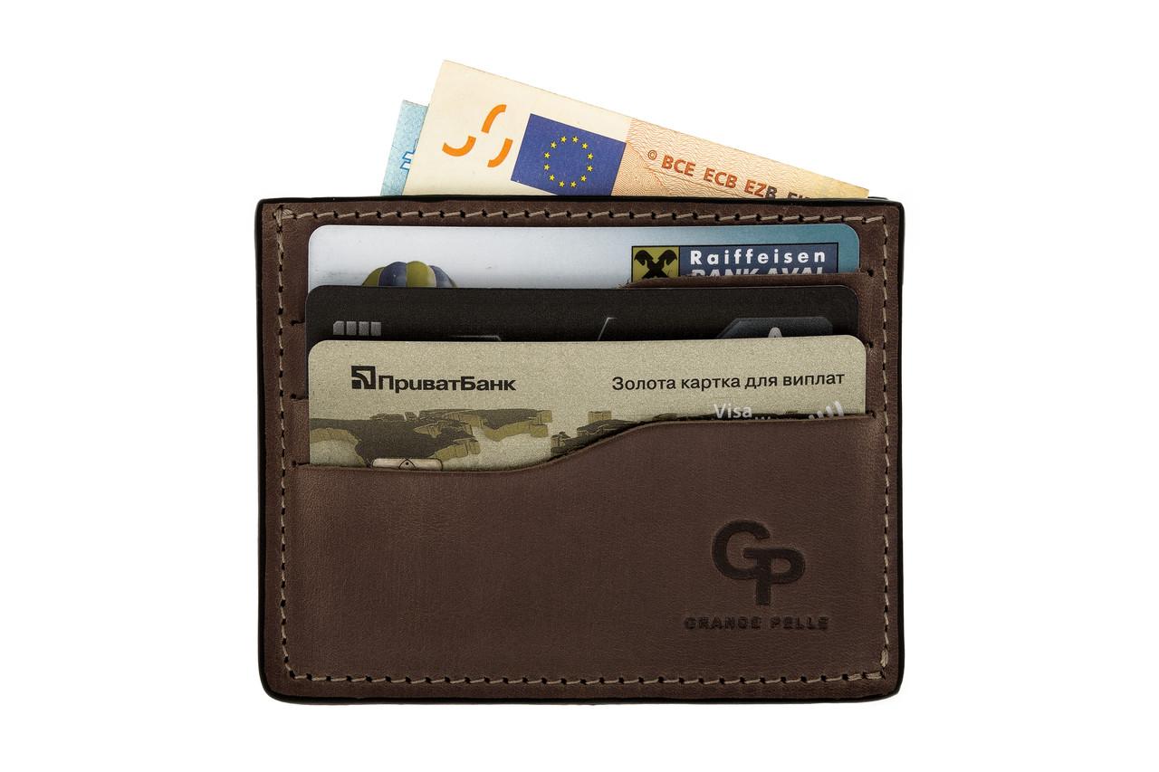 Кард-кейс Grande Pelle CardCase 305120 шоколад