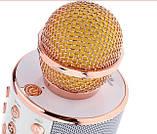 Бездротовий Караоке Bluetooth Мікрофон з Динаміком в Коробці WS-858, фото 5