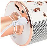 Бездротовий Караоке Bluetooth Мікрофон з Динаміком в Коробці WS-858, фото 6