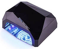УФ/LED-CCFL лампа для сушки гель-лаков YRE Diamond 36 Вт (черная)