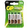 Батарейка GP SUPER ALKALINE 1.5 V 15A-U4 лужна, LR6, АА (4891199000034)