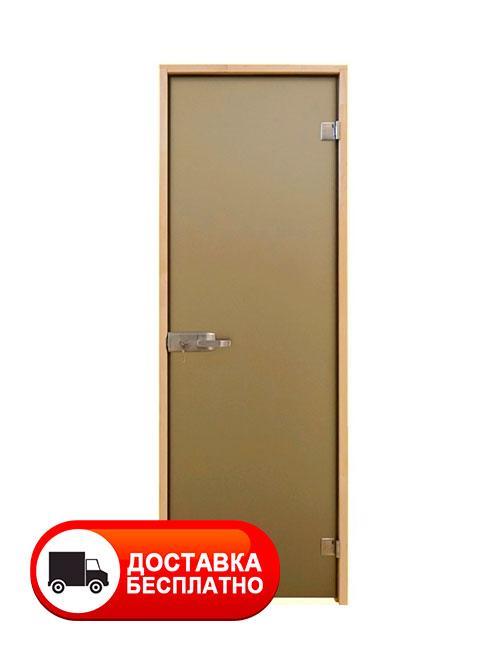 Двери для душа в бане Aqua Bronze Sateen 2000*800 (матовые)