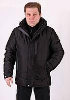 Куртка мужская зимняя черная Avecs AV7342693B Баталы Размеры 60 62