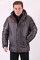 Куртка мужская зимняя серая Avecs AV7342694B баталы Размеры 56 60 62