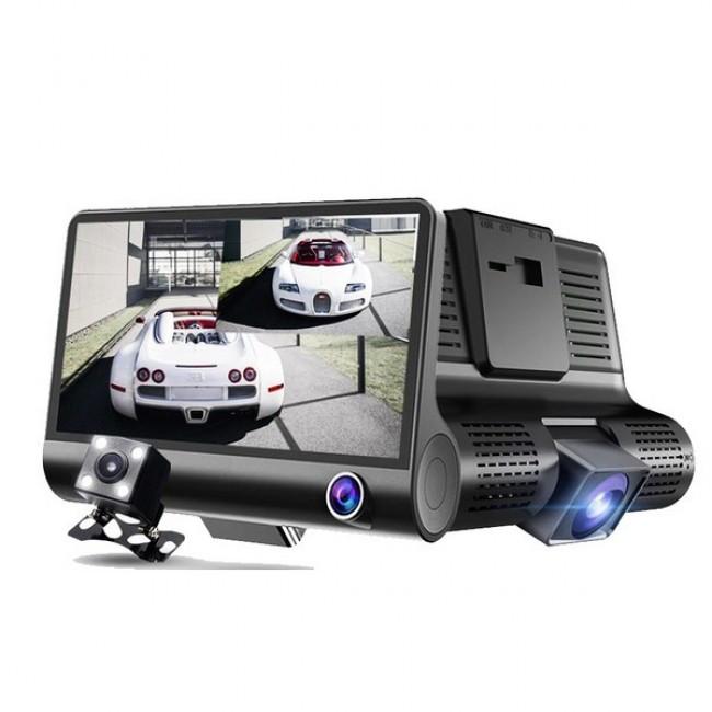 Автомобильный Видеорегистратор с 3 камерами Car DVR WDR Full HD 1080P