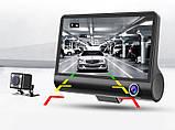 Автомобильный Видеорегистратор с 3 камерами Car DVR WDR Full HD 1080P, фото 9