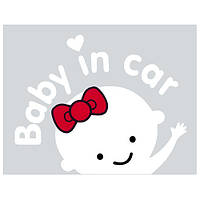 "Наклейка  ""Baby in car"" девочка (155х126мм) плюс монтажка ((10))"