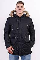Куртка мужская парка зимняя черная AV-17280 Black Размеры XL/52