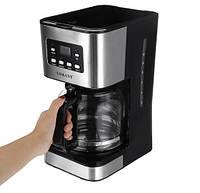 Кофеварка капельная для дома электрическая на 12 чашек с LCD дисплеем Sokany 121E 950W