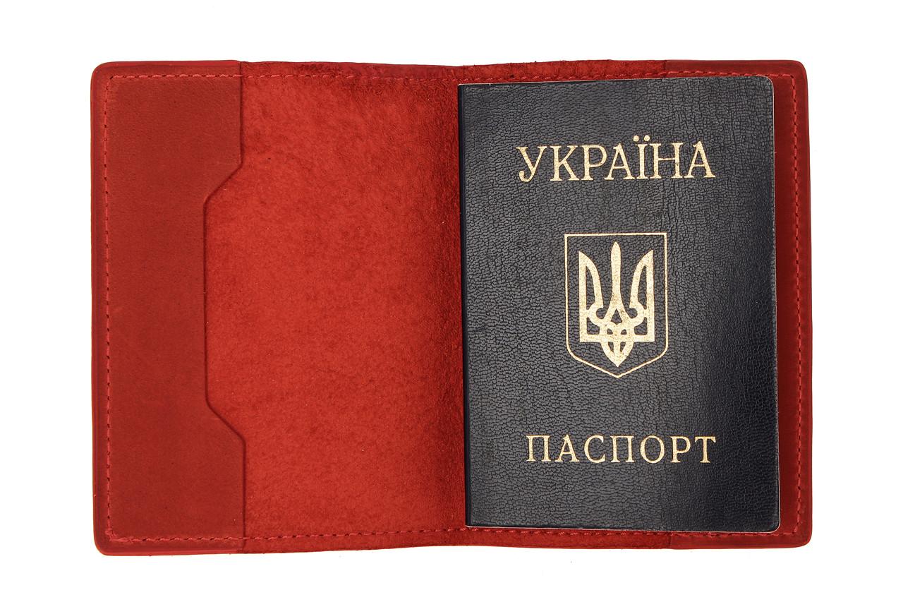 Обложка для паспорта Grande Pelle 252160 красная матовая