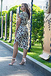 Летнее повседневное платье (40-50рр), принт листья, фото 3