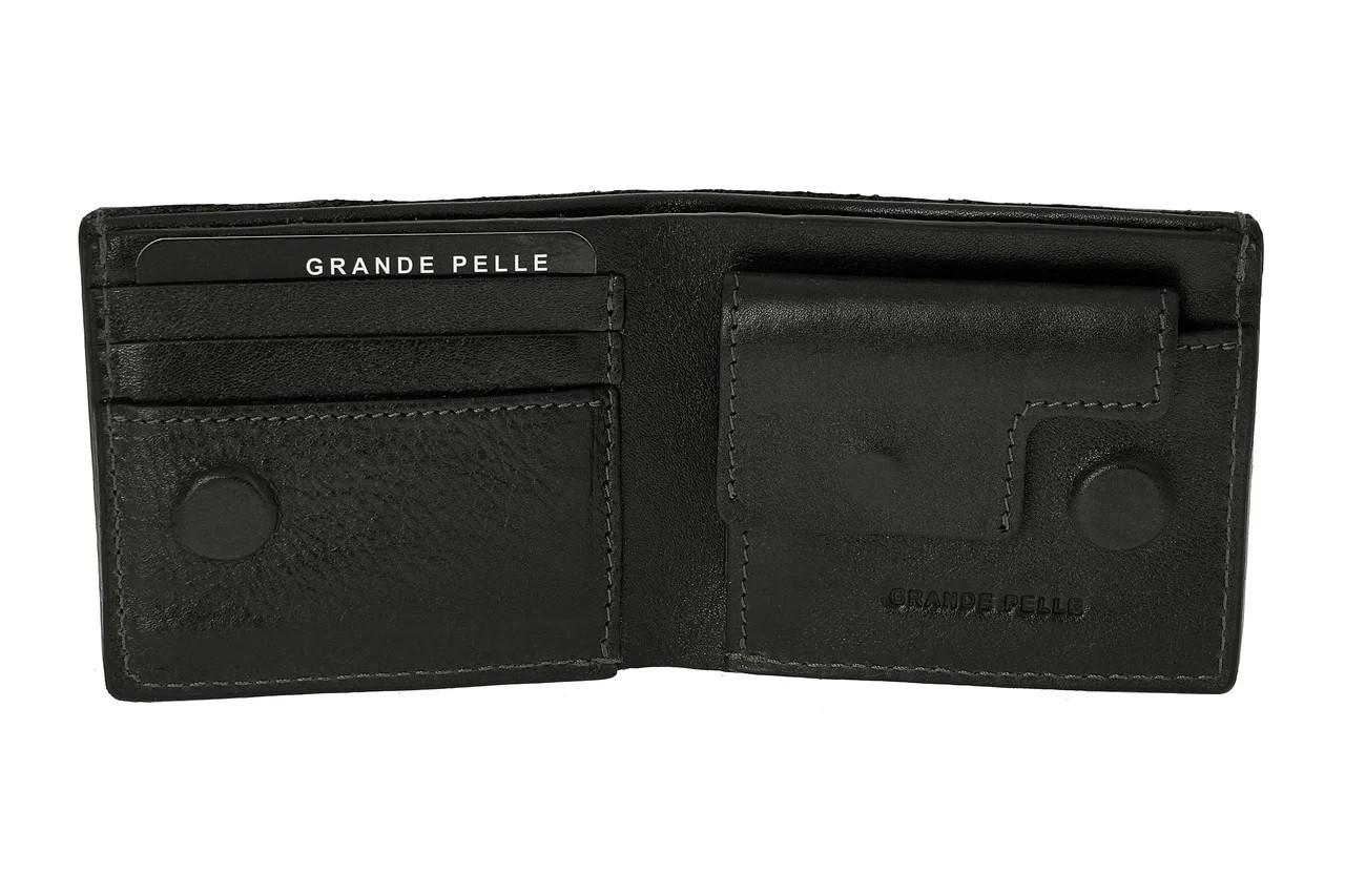 Кожаный мужской кошелек на магните Grande Pelle