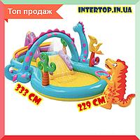 Детский надувной игровой центр бассейн с горкой Intex 57135 NP Планета динозавров