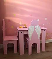 Детский столик и 2 стульчика, детский столик, детский стульчик