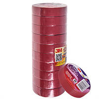 Изолента 3М 18мм*20м*0,15мм Red (3М 1600)