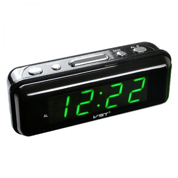Настольные часы с будильником цифровые VST VST-738-4 Черный (20053100293)