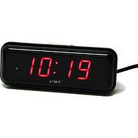 Настольные часы с будильником цифровые VST LED VST-738-1 Красный (20053100294), фото 1