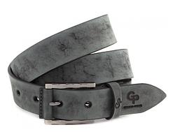 Кожаный ремень Rigatura, серый мрамор