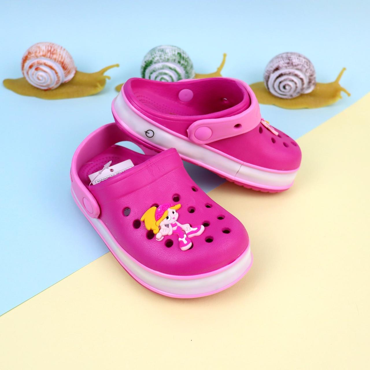 Детская летняя обувь кроксы светяшки для девочки тм GIOLAN р 20,21, 22,23,24,25,26, 27,28,29,30,31,32,33,34,35