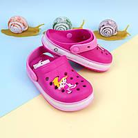Детская летняя обувь кроксы светяшки для девочки тм GIOLANр. 22,25,31,32,33
