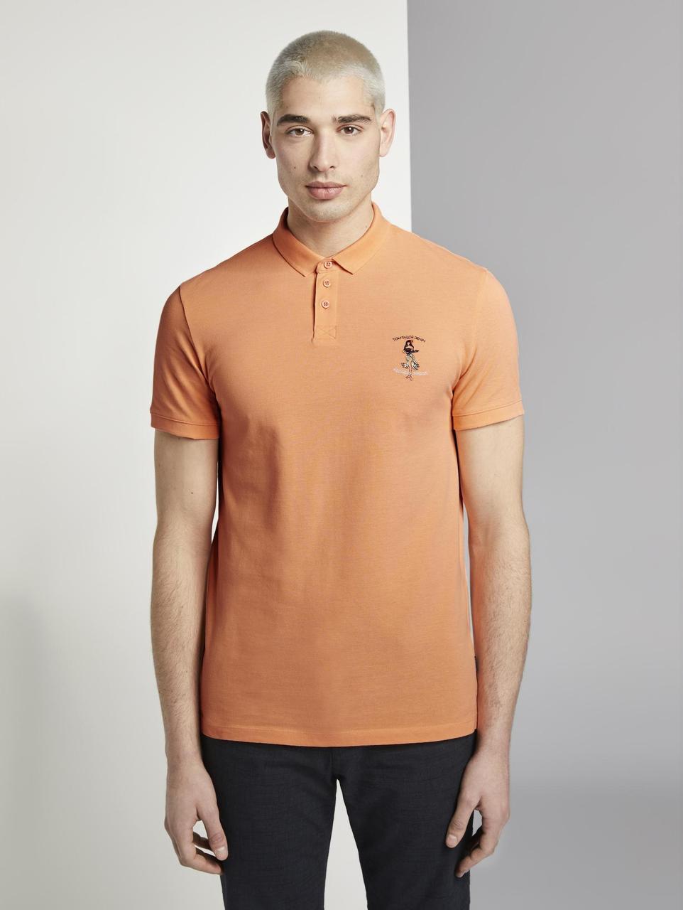 Поло Tom Tailor 1019025 S Оранжевый