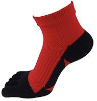 Носки с пальцами мужские VERIDICAL 40-44 Черно-красные