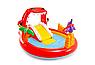 Детский надувной игровой центр бассейн с горкой Intex 57163 196х170х107 см Веселый Дино, фото 2