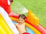 Детский надувной игровой центр бассейн с горкой Intex 57163 196х170х107 см Веселый Дино, фото 5