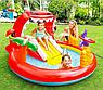 Детский надувной игровой центр бассейн с горкой Intex 57163 196х170х107 см Веселый Дино, фото 4