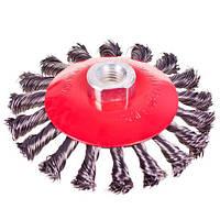 """Alloid. Щітка конусна """"пучки кручений дроту"""" 100мм, М14х2 (WB-40100)"""