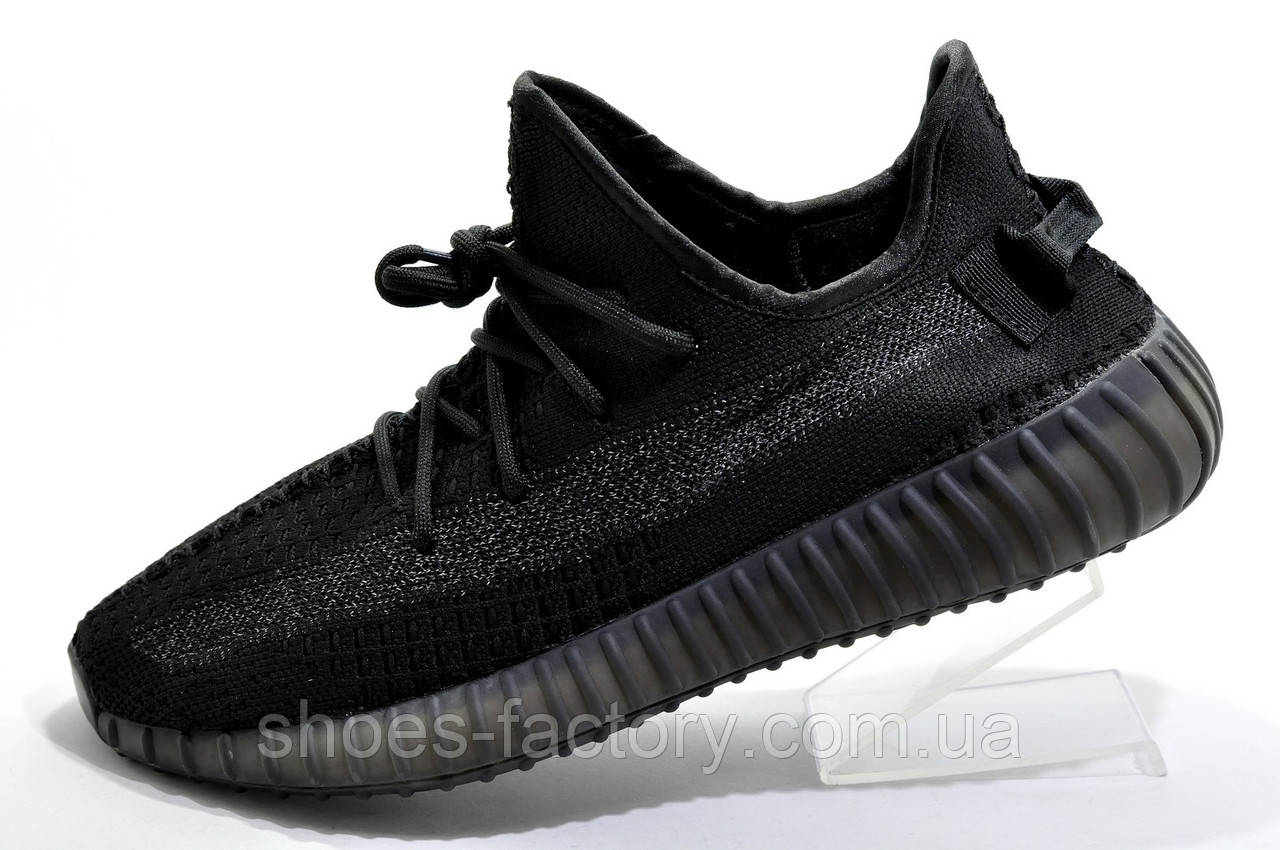 Мужские кроссовки в стиле Adidas Yeezy Boost 350 Reflective, Black (Топ)