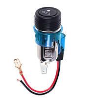 Прикуриватель с подсветкой  в планку 24V BLUE (10229 24V BLUE)
