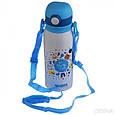 Вакуумный термос детский с трубочкой Disney Frozen 400мл 9030-350, фото 3