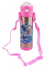 Вакуумный термос детский с трубочкой Disney Frozen 400мл 9030-350